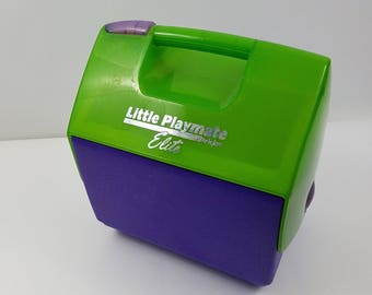 Igloo Little Playmate Elite Vintage Cooler Lunch Box 6 Pack Personal Size 90s Colorblock USA made