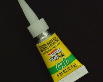 Super Glue GEL - TWO Single Use Size Tubes - 0.01 ounce each