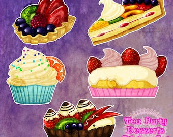 Tea Party Dessert Stickers