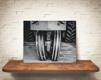 Tractor Photograph - Fine Art Print - Black & White Photography - Wall Art - Industrial -  Farm Pictures - Farmhouse Decor - Tractors