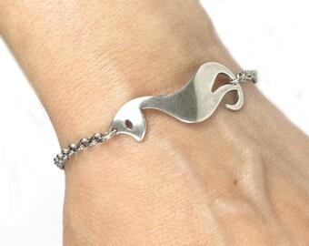Cat Bracelet Cat Anklet Sterling Silver Ox Finish