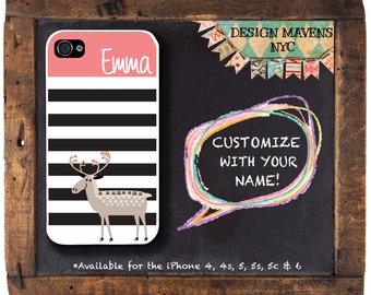 Moose iPhone Case, Personalized iPhone Case, Gift for her Case, iPhone 4, 4s, iPhone 5, 5s, 5c, iPhone 6, 6s, 6 Plus, SE, iPhone 7, 7 Plus