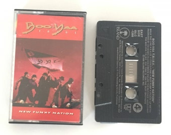 Boo-Yaa Tribe - New Funky Nation - vintage cassette tape - hip hop California - rap - heavy metal - 1990 - Free shipping Canada USA