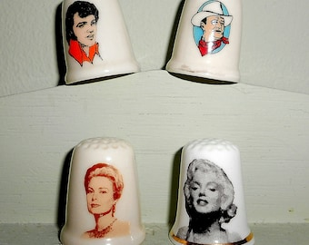 Vintage Movie Star Thimbles