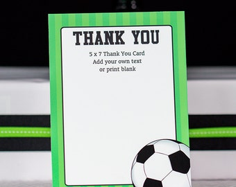 PRINTABLE Team Thank You Card for Soccer Coach Instant