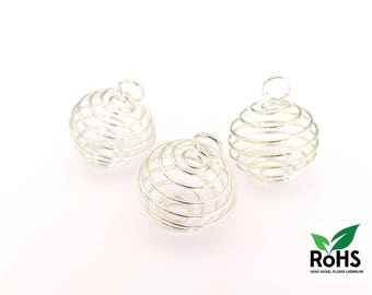 Bead cage pendant - 3 Sizes : 9x12mm - 14x15mm - 18x20mm