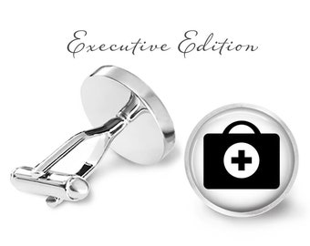Paramedic Cufflinks, First Aid Kit Cuff Links - Medical Responder Cufflink (Pair) Lifetime Guarantee (S1104)