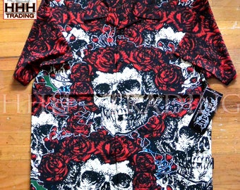 """Dragonfly GRATEFUL DEAD Style """"Groupies"""" Pg-257 Men's Button Up 100% Polyester Shirt in Size Large NWT"""