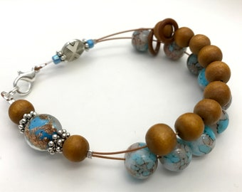 Earth & Sky Counting Bracelet - Row Counter Abacus - Gift for Knitter