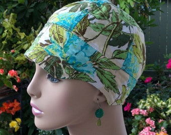 Women's Chemo Hat SALE Cancer Cap for Hair Loss Reversible Made in the USA Medium