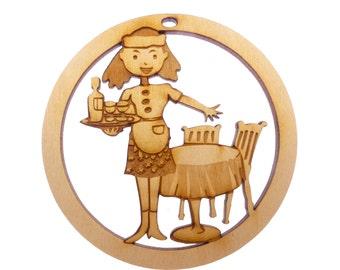 Waitress Ornament - Waitress Gift - Waitress Ornaments - Waitress Gifts - Personalized Free