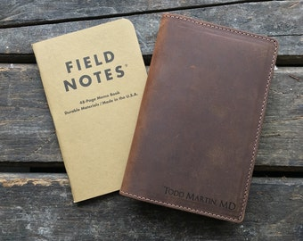 Field Notes Leather Cover - Journal Cover - Crazy Horse