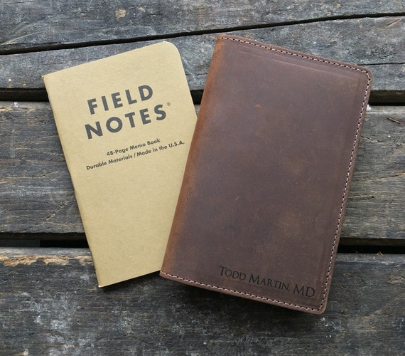 Field Notes Leather Cover Journal Cover Crazy Horse