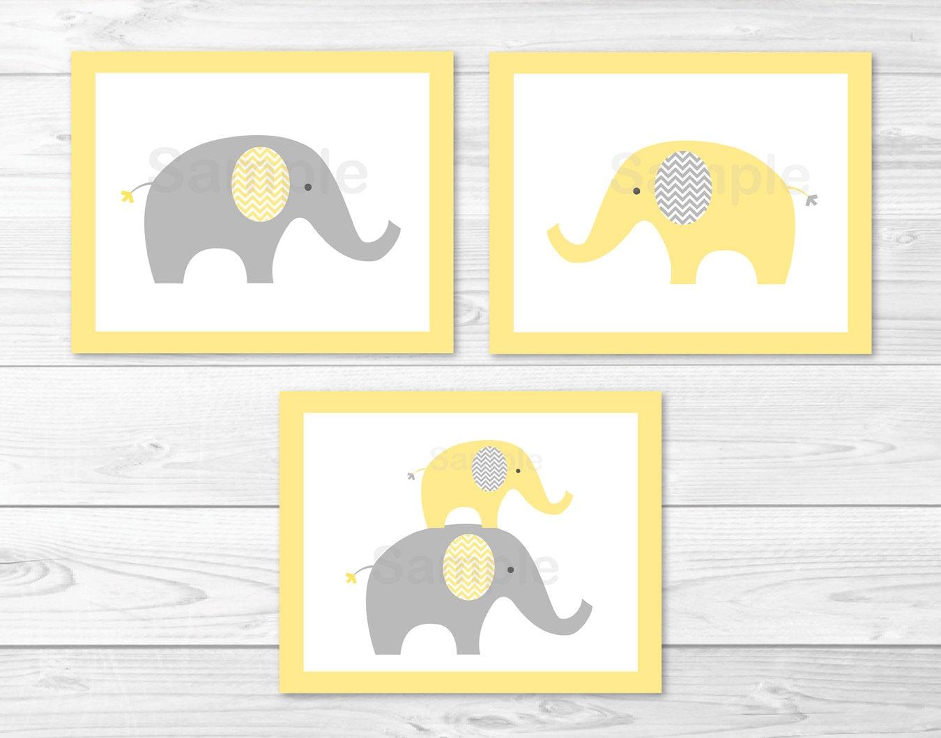 Elephant Nursery Wall Art / Elephant Nursery Wall Art /