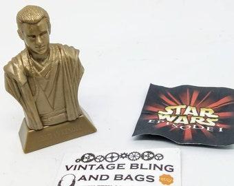 OBI-WAN KENOBI 1990s Kellogg's cereal collectable, vintage Obi-Wan Kenobi figure, Vintage 1990s Star Wars figure, vintage Obi-Wan Kenobi