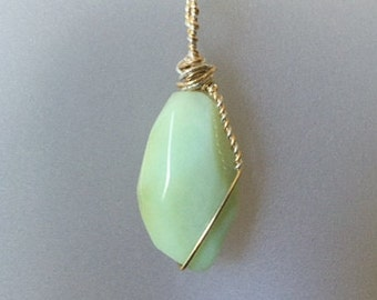 Natural Chrysoprase Pendant