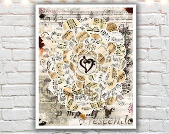 musician gifts - music art - music  gifts - for musicians - mixed media collage - art prints