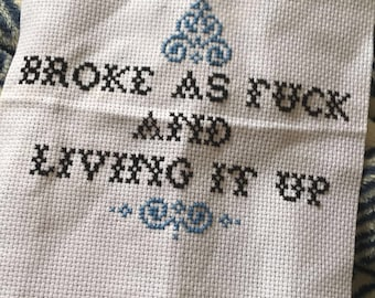 Custom Cross-Stitched Quotes