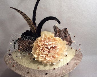 Tan Brown Kentucky Derby hat