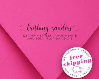Custom Self Inking Stamp | Customized Ink Stamps | Personalized Rubber Stamp | Bespoke Return Address Stamper | SANDERS 4913