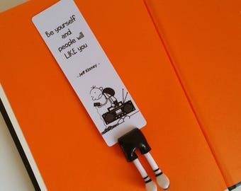 Diary of a Wimpy Kid bookmark,  Greg Heffley bookmark, perfect bookmark for Greg Heffley lovers, diary of a wimpy kid book lovers gift idea