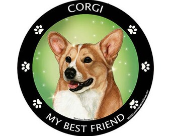 Corgi My Best Friend Dog Magnet