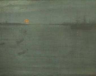 Nocturne Blue and Gold by James McNeill Whistler Home Decor Wall Decor Giclee Art Print Poster A4 A3 A2 Large FLAT RATE SHIPPING