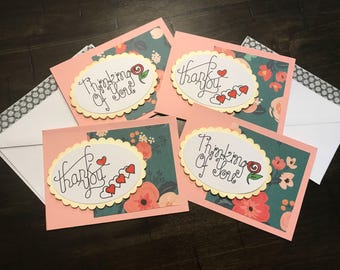 Encouragement cards, thank you cards, thinking of you cards,