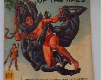 Vintage 1966 Comic Book, Tarzan of the Apes, Edgar Rice Burroughs, Gold Key, Collectors Edition, The Jewels of Opar! Tarzan Fights