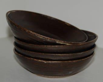 Handmade pottery bowl SET. Salad or cereal bowl SET. Pottery bowl SET.