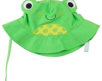 Flippy the Frog Sun Hat Beach Hat for Babies and Toddlers