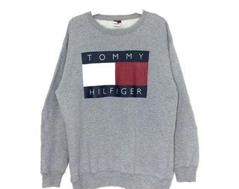 Vintage Tommy Hilfiger big logo sweatshirt crewneck