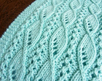 """Knitting Scarf Pattern for """"Lace and Sails"""" PDF download"""