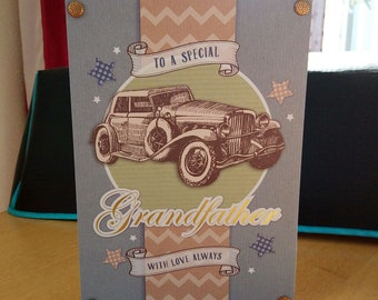 Grandfather Birthday Card - luxury quality bespoke UK handmade
