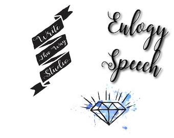 Eulogy Speech Writing Service - Write This Way Studio - Funeral Services - Writing Services - Eulogy Writing - Speech Writing Help - Custom