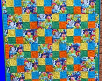 Jungle Babies Cot/Crib quilt
