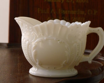 Portieux Vallerysthal milk glass cream pitcher