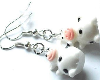 Cow with spots-1 pair of earrings-Carnival children's gift jewelry fashion Jewelry