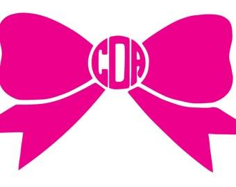 Monogram Bow Sticker