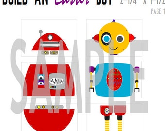 Instant Download DIY Easter  Robot Puzzle Printable