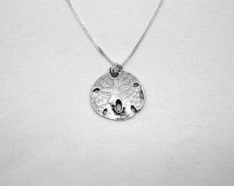 """Sand Dollar Necklace, Fine Silver - """"A Dollar You Will Want to Keep Forever"""" Handmade  Beach"""