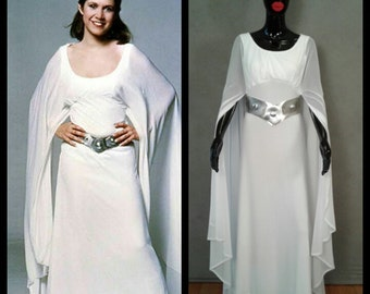"""MADE TO ORDER Princess Leia Inspired Ceremonial Dress Star Wars """"A New Hope"""""""