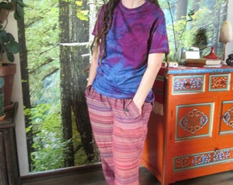 Eco Friendly , hand Dyed , Tie dye , Low Emersion , T-shirt