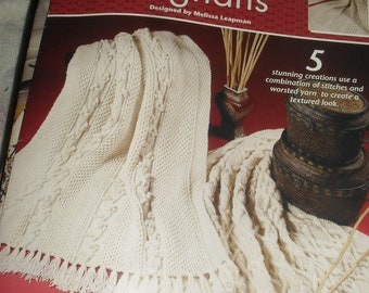 Aran Artistry Afghans - Crochet  -  Annie's Attic  - Designed by Melissa Leapman