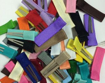 50 MINI Solid Lined Single Prong 35mm Alligator Clips, No Slip Hair Clips, Mini Velvet Clips, Velvet Hair Clips, Mini Hair Clips