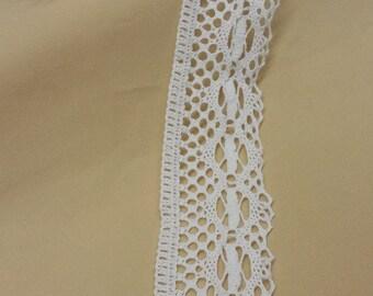 Snow white Lace Trim by the yard, cotton lace natural lace Chantilly Lace Bridal Gown lace Wedding Lace White Lace Garter lace LEK41601