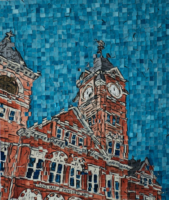 Auburn University - Samford Hall - Architectural Art: Archival Print