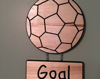 Handmade Personalized Soccer Ball Plaque