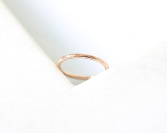 Hammered Ring • 9K Gold • Yellow, Rose, White Gold