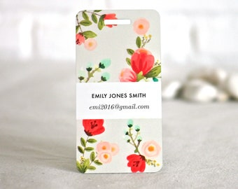 Summer Floral Custom Luggage Baggage Tags Traveller's Gift